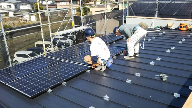モデルハウスの太陽光発電設備について